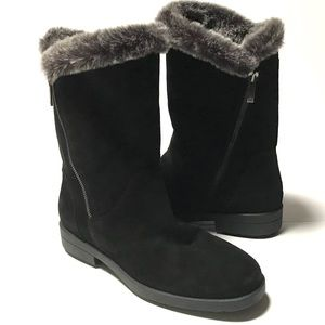 Aquatalia Fur lined Suede water resistant boots